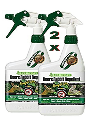Liquid Fence 112 1 Quart Ready-to-Use Deer & Rabbit Repellent (Pack of 2)