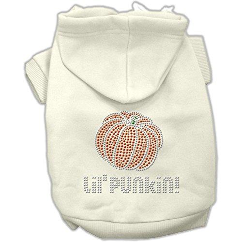 Mirage Pet Products 12-Inch Lil' Punkin' Hoodies, Medium, Cream