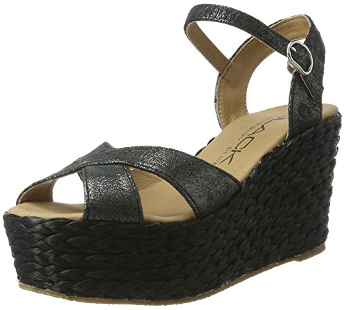 Black Women's 283 797 Ankle Strap Sandals Black (Black) LWVH09D