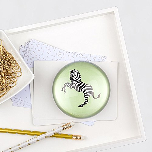 Decoration Cathys Concepts Table (Cathy's Concepts Zebra Domed Glass Paperweight)
