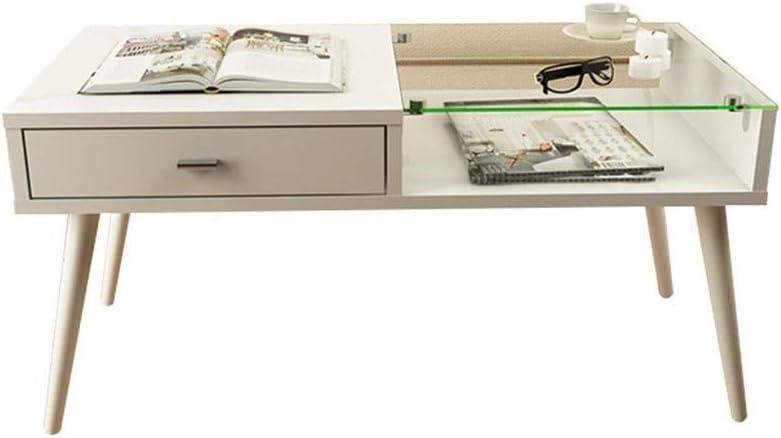 Goedkoopste Xu-tafel kleine glazen tafel, ontbijtgebied, houten plank, afdekking voor slaapkamer, werkkamer, Wit hevUJlY