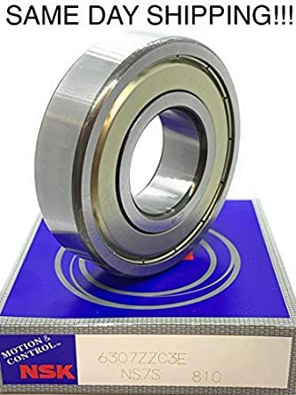 NSK 6307 ZZ C3 Deep Groove Radial Ball Bearing 35x80x21mm SAME DAY SHIPPING !!!