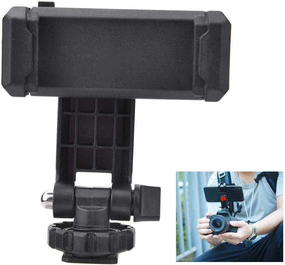 Camera Phone Holder for Tripod Universal Phone Holder for DSLR Camera Yosoo Health Gear Phone Holder Hot Shoe Mount