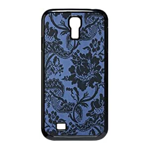 Blue Flowers Personalized Cover Case for SamSung Galaxy S4 I9500,customized phone case ygtg611630