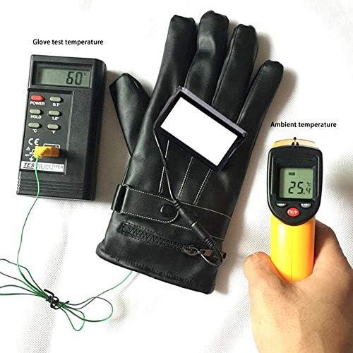 Dedeka Guantes calefactables con 3 Temperaturas Ajustables,Guantes t/érmicos a 3000mAh bater/ía Recargables,Forros de Guantes aislantes Impermeables para Hombres//Mujeres