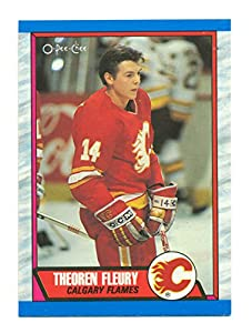 1989-90 OPC Theoren Theo Fleury Rookie RC #232 Calgary Flames - Hockey Card
