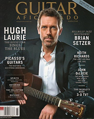 Guitar Aficionado ~ Vol.3 #3 ~ Hugh Laurie (House) Sings the Blues/ Brian Setzer/ Keith Richards