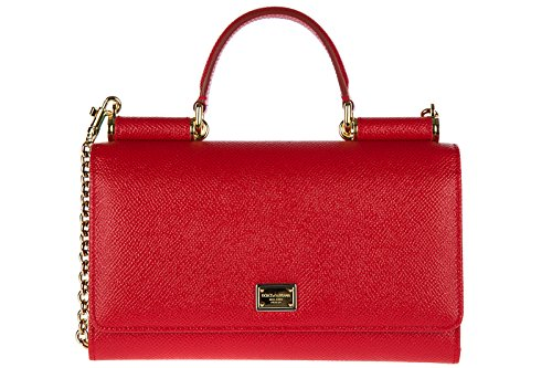 Dolce&Gabbana women's leather clutch with shoulder strap handbag bag purse - Gabbana 2014 Handbags And Dolce