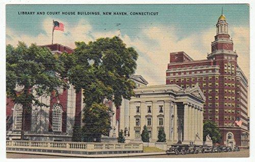 Library & Court House, New Haven, Connecticut Vintage Original Postcard #0857 - July, ()