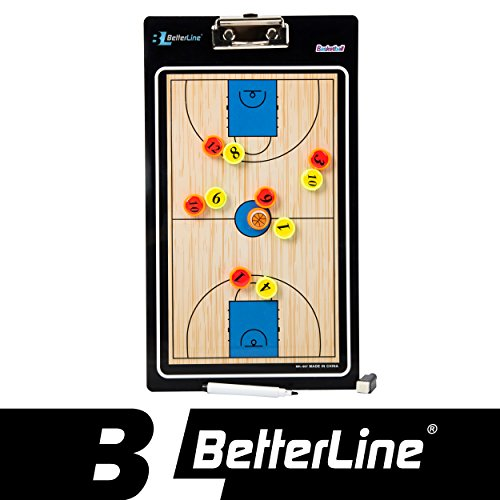 Better Line  Premium Coaching Board for Basketball Magnetic Double-Sided Dry-Erase Clipboard - Includes Numbered Magnets & Marker - Choose Your Sport (13.8