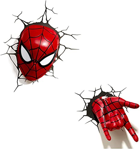 miracle avengers wall lamp iron man hulk spider man hand head 3d captain america shield raytheon hammer creative wall lamp decorating light bedroom