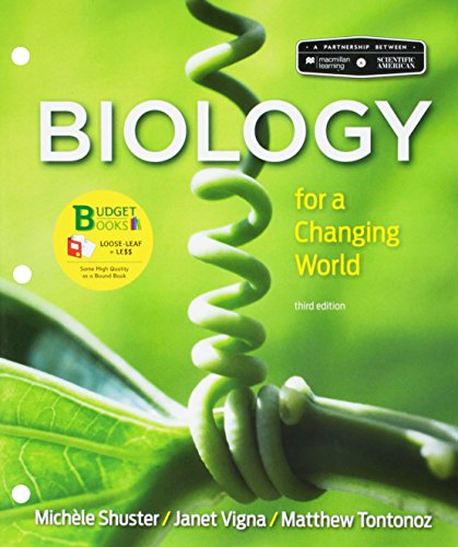 Loose-leaf Version for Scientific American: Biology for a Changing World