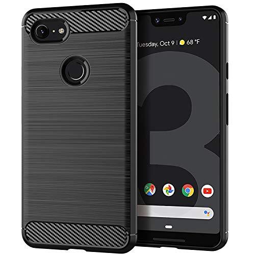 Google Pixel 3 XL Case, Brushed Texture Anti-Fingerprint Flexible Full-Body Protective Cover for Google Pixel 3 XL
