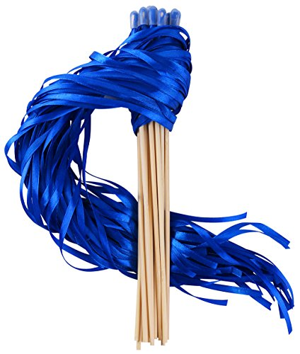 (Wishprom Ribbon Wands Sticks Streamers for Wedding Party Favor (Royal Blue-30PCS) )