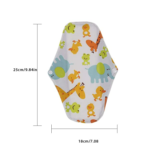 Bulary 5pcs Reutilizables Almohadillas sanitarias Lavables Estera Sanitaria Lavable paño Menstrual Almohadillas/Panty Liners servilleta de Mujer servilleta ...