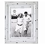 Prinz Carson Distressed Antique White Wood Frame, 8 by 10-Inch