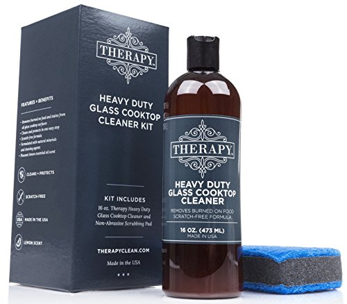 eaning Kit - Includes 16 oz. Bottle of Therapy Heavy Duty Cooktop Cleaner, 1 Scrubbing Pad ()