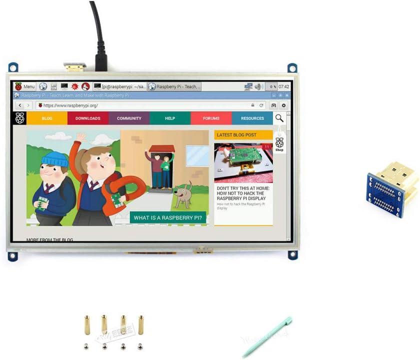 10.1Inch Hdmi Lcd Monitor Raspberry Pi Resistive Touch Screen Display 1024600 hoch Resolution für Raspberry Pi 2B/3B/3B+/4B(die Pi 1 Model B oder Pi Zero müssen Hdmi Cable)