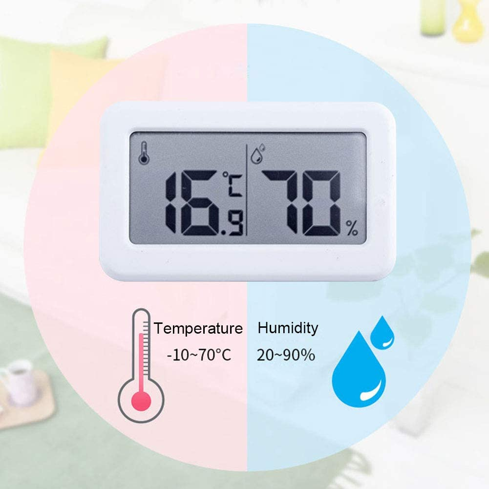Home Ultra-Thin Mini Digital Hygrometer Indoor Accurate Humidity Monitor Gauge for House Office Greenhouse INRIGOROUS Thermometer Indoor 1