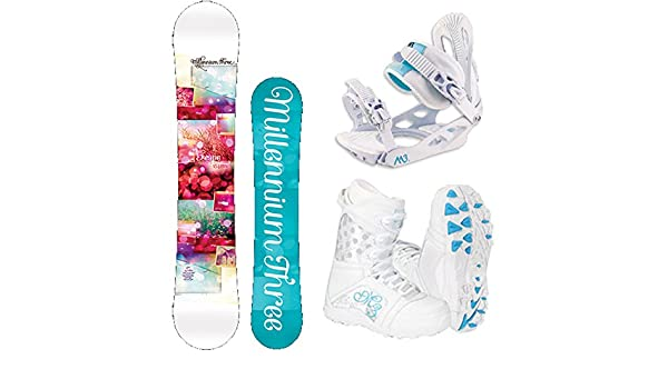 efc7101885b Amazon.com   M3 Escape Women s Complete Snowboard Package M3 Bindings +  Boots - Board Size 151   Sports   Outdoors
