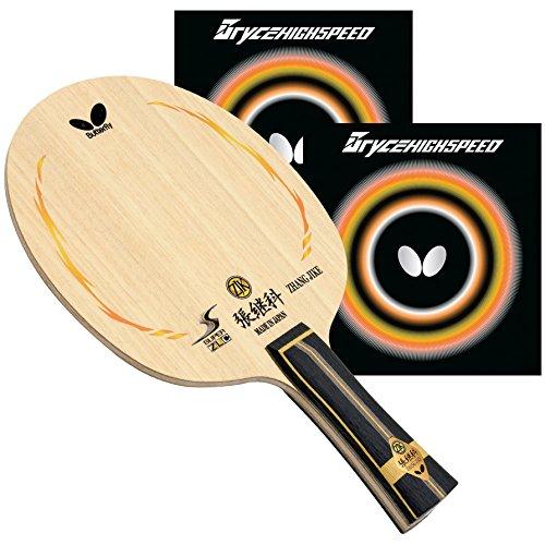 バタフライZhang Jike Super ZLC FLブレードwith Bryce High Speed 2.1レッド/ブラックRubbers pro-lineテーブルテニスラケット B06WW8QSX4