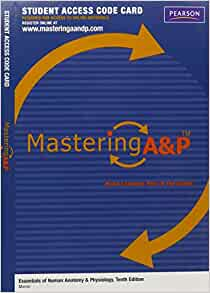 MasteringAampP Without Pearson EText Standalone Access
