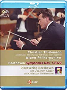 BEETHOVEN Sinfonien 7, 8 & 9 Christian THIELEMANN (+ 170 min. Doku mit Joachim Kaiser) Blu-ray [Reino Unido] [Blu-ray]