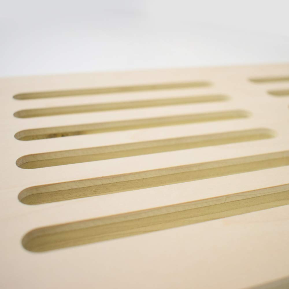 4 x 10 Inches x 1//2 Thick Maple Plywood Vent Cover
