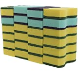 HOMMP 24-Count No-scratch Heavy Duty Scrub Sponges, 6 Packs