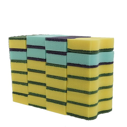 HOMMP 24-Count No-Scratch Scrub Sponges, 6 Packs
