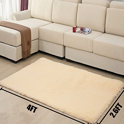 modern shag area rugs super soft solid living room carpet bedroom rug