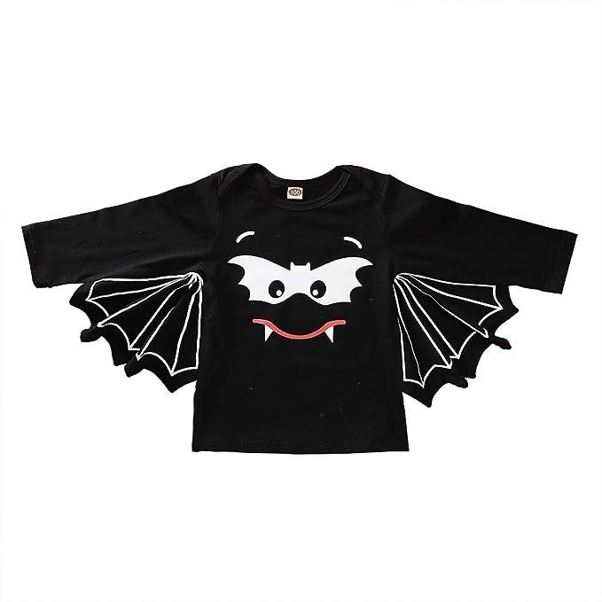 MAYOGO Camiseta con Capa Halloween Trajes Bat Disfraz para ...