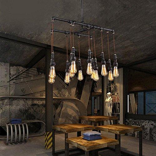 MEIREN@LOFT, Industrie-Design, Beleuchtung, Rohr Lampen und Retro-bar-Restaurant-Schlafzimmer Lampen Kronleuchter , 12 head
