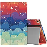 MoKo Case for All-New Amazon Fire HD 10 Tablet (7th Generation, 2017 Release) - Slim Folding Stand Cover with Auto Wake / Sleep for Fire HD 10.1 Inch Tablet, Totoro