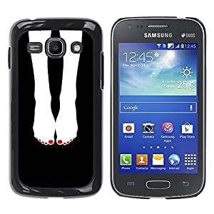 Be Good Phone Accessory // Dura Cáscara cubierta Protectora Caso Carcasa Funda de Protección para Samsung Galaxy Ace 3 GT-S7270 GT-S7275 GT-S7272 // Feet Black White Nails Girl