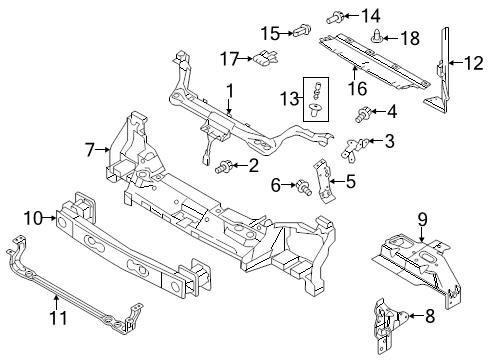 Ford OEM Radiator Support Panel Reinforcement 9T1Z108K34A Image 5