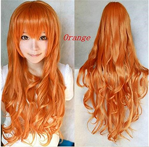 ATOZWIG@Hot 2016 Sexy Women Long Red Wig Wavy Curly Anime Co