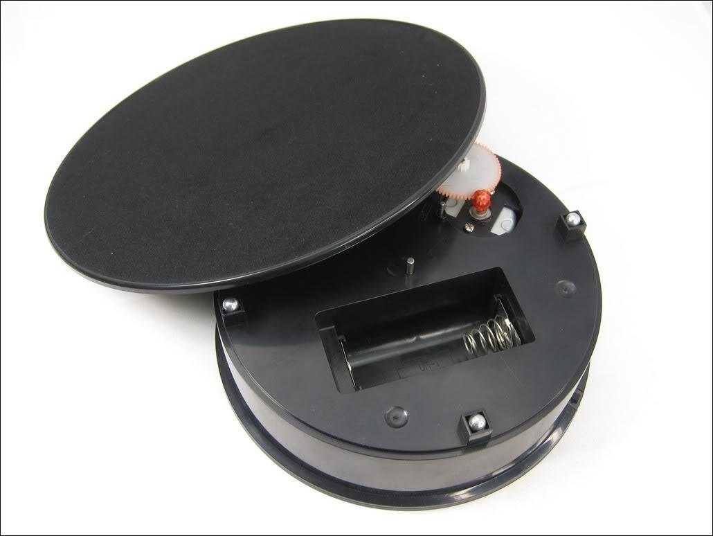 Galleon Black Velvet Top Motorized Rotating Display