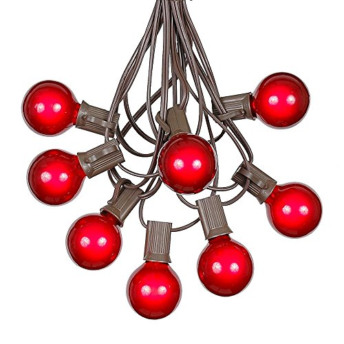 Red And Clear Outdoor Christmas Lights - 8