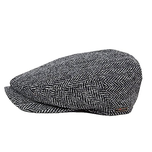 Wigens Jacob - Signature Wool Longshoreman Herringbone Hat (58, Dark - Wigens Wool