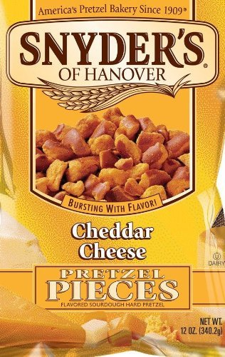 - Snyder's of Hanover, Cheddar Cheese Pretzel Pieces, 12oz Bag (Pack of 3)