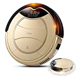 Haier SWR-T321 Pathfinder Vacuum Cleaner Robot Remote Control Self Charging Cleaning Devices (US PLUG, Gold)