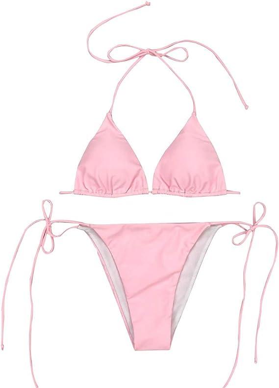 Übergröße Damen  Hoher Taille Push Up Bikini Set Bademode Badeanzug Schwimmanzug