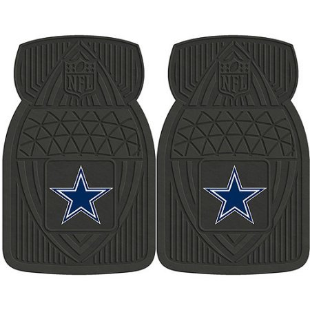 NFL 4-Piece Front #36572620 and Rear #19888887 Heavy-Duty Vinyl Car Mat Set, Dallas Cowboys by Sports Licensing Solutions LLC