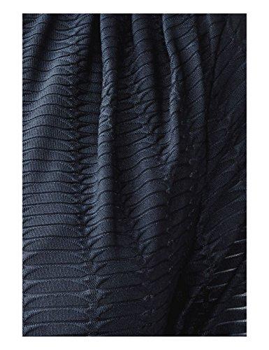 Street Blau Blue 10109 Donna with Jaquard One Vestito Night Jersey Dress Gatherings 4qr4vFwS