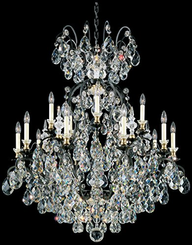 Schonbek 3773-26 Swarovski Lighting Renaissance Chandelier, French Gold - Renaissance Sixteen Light Chandelier