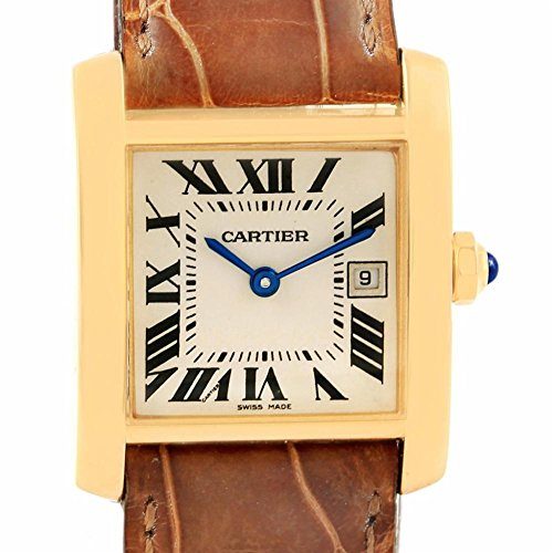 Cartier Tank Francaise quartz womens Watch W50014N2 (Certified Pre-owned)