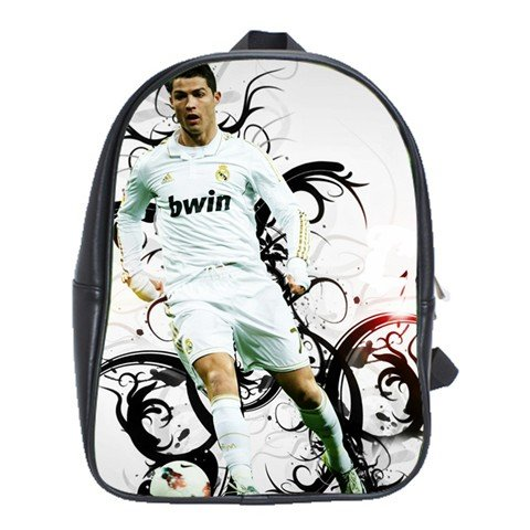 Cristiano Ronaldo CR7 Madrid Portugal Leather Backpack Notebook Laptop Macbook Ipad Bag School Rucksack - Portugal Tracking Number