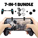 Mobile Game Controller Bundle for iPhone iOS 6, 6 Plus, 6S, SE, 7, 7 Plus, 8, 8 Plus, iPhone X, and Android Phones with Mobile Gamepad, Mobile Claw Triggers, and Mobile Joysticks