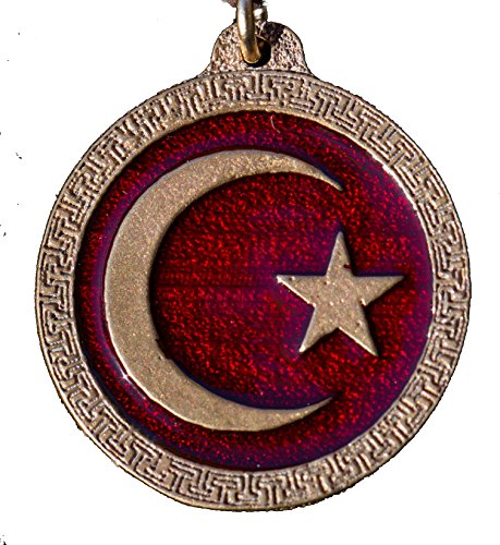 Crescent Moon Star Enamel Necklace product image